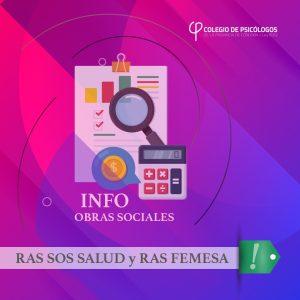 A partir del 1/10/2019 no tendremos más convenio con RAS SOS SALUD y RAS FEMESA